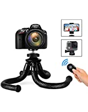 sanipoe sb-45 Flexible Phone/Camera Tripod Holder, Adjustable Cell Phone Tripod Stand with GoPro Adapter, Best for iPhone, Android Phone, Canon, Google Smartphones, Phone Tripod Black