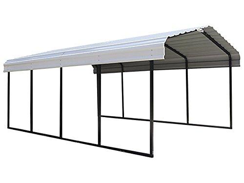 Arrow 29 Gauge Carport, Galvanized Steel Roof Panels, 12