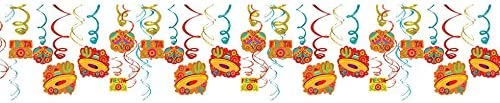 amscan Fiesta Foil Swirls Decorations