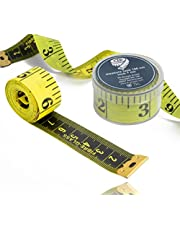 2 in 1 - meetlint CM + INCH kleermakers meetlint 150 cm in opbergdoos