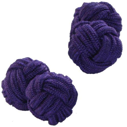 Purple Shade Silk Knot Cufflinks | Cuffs & Co
