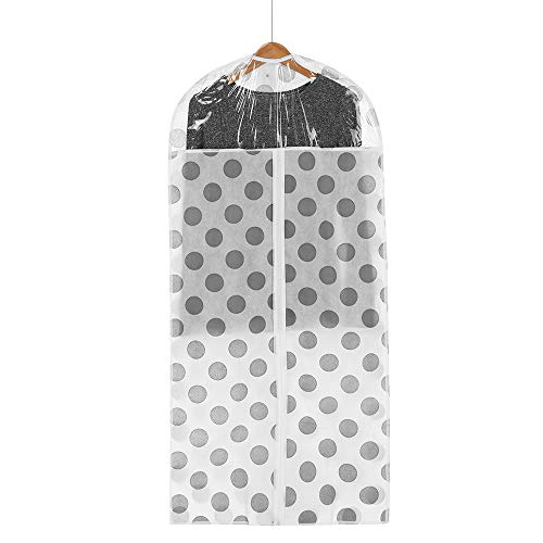 Hot Sale!DEESEE(TM)Wave Point Home Clothes Garment Cover Case Dustproof Storage Bags Protector (L)]()