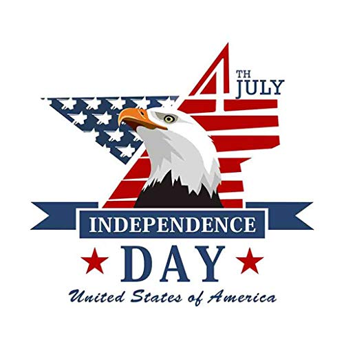 USA Independence Day July 4 Vinyl DIY Wall Sticker The Star-Spangled Banner Bald Eagle Decals Home Decor Bedroom Studyroom Classroom Library