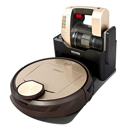 Wetland Machine Household Automatic Intelligent Vacuum Cleaner Sweeping Robot Ultra-Thin Electric Sweeper Washing|Wiping | Mopping Integrated Service Vacuums (Color : Gold, Size : 35cm|14inch)