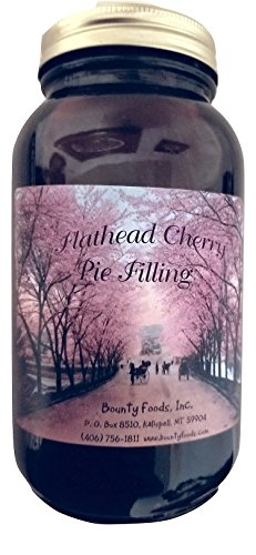 Montana Flathead Cherry Pie Filling - 20 oz jar Grown & Hand Picked for Bounty Foods this is Vegan Friendly | Gluten Free | Non-GMO Best for Pies - Cobblers - Toppings and Desserts (FCPF 20oz) -