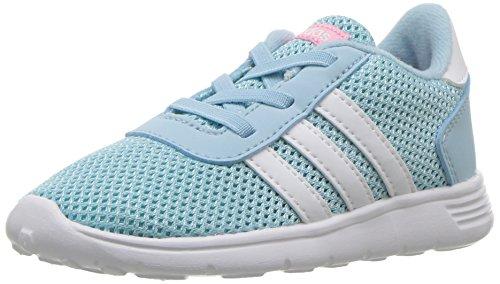 adidas Neo Girls' Lite Racer Inf Sneaker, Ice Blue/White/Energy Aqua, 8 Medium US Toddler (Footwear Toddler Light Blue)