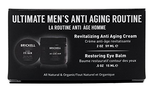 Brickell Men's Ultimate Anti-Aging Routine - Anti-Wrinkle Night Face Cream and Eye Cream to Reduce Puffiness, Wrinkles, Dark Circles, Under Eye Bags - Natural & Organic (Scented) by Brickell Men's Products (Image #4)