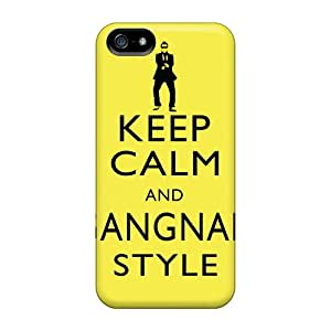 Slim Fit Tpu Protector Shock Absorbent Bumper Keep Calm And Gangnam Style Psy Case For Iphone 5/5s