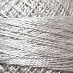(Valdani Perle Cotton Size 8 Embroidery Thread, 72 Yard Ball - 117 White Smoke Grey)