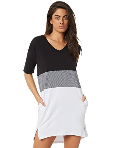 Swell Cotton Elastane Harvust White V White Women's Dress Neck 7r7FPqw