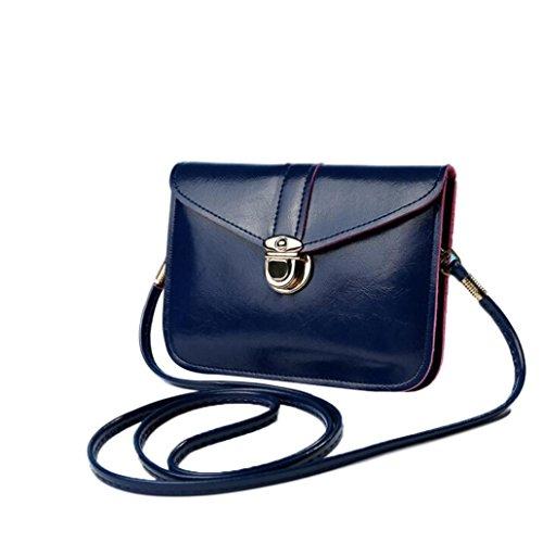 Zero en sac main sac main téléphone Épaule à Femme Bleu à Messenger fille rétro main sac cuir à sac sac de foncé bandoulière mini diagonale Bag unique à vert Mode Hvq18v7x