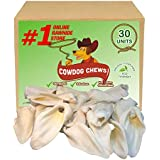 Cowdog Chews Prime Cow Ear for Dogs. Natural Treat chew Without Any additives. (30 Pack)