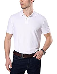 Mens Golf Polo Shirt Pique Cooldry Wick Short Sleeve Collar Polo Solid