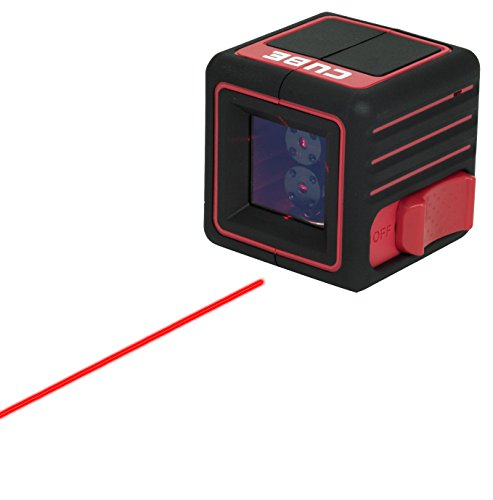 (AdirPro Cube Cross Line Laser Level Professional, Red/Black)