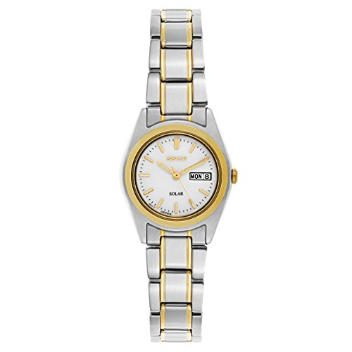 Seiko Women's SUT108 Two-Tone Stainless Steel Solar (Seiko Womens Two Tone Watch)