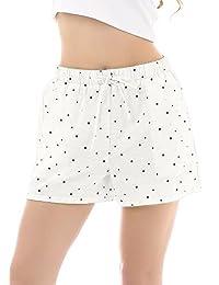 Yulee Women's Cotton Sleepwear Lounge Pajama Boxer Shorts Sleep Shorts