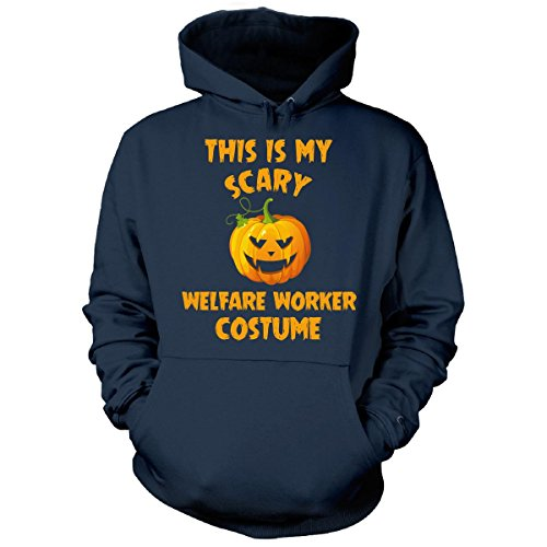 Welfare Mom Costume (This Is My Scary Welfare Worker Costume Halloween Gift - Hoodie Navy XL)
