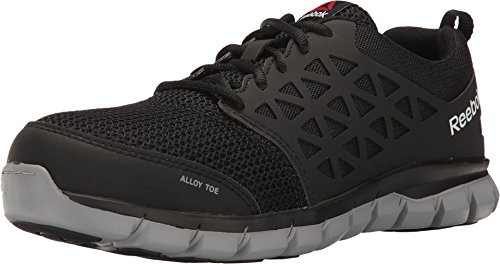 Image of the Reebok Work Men's Sublite Cushion Work RB4041 Industrial and Construction Shoe, Black, 9.5 M US