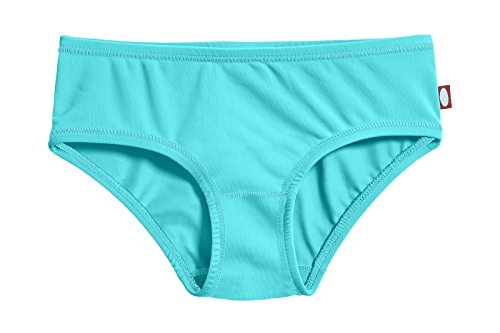 City Threads Little Girls' Swimwear Briefs Bikini Bottoms Beachwear, Turquoise MS, 5