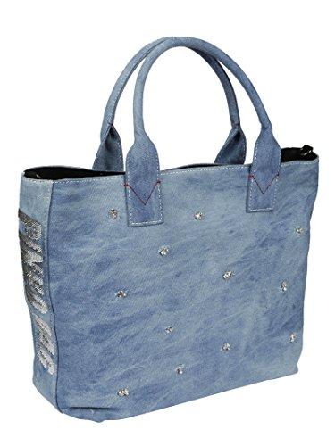 Pinko Borsa Shopping Donna 1H20E9Y4CQE89 Cotone Blu