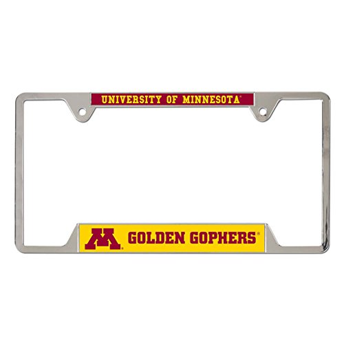 WinCraft Minnesota Golden Gophers Metal License Plate Frame - Metal, ()