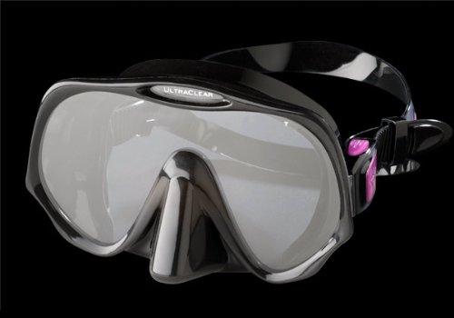 Atomic Aquatics Frameless Mask for Scuba Diving and Snorkeling - Medium Black ()