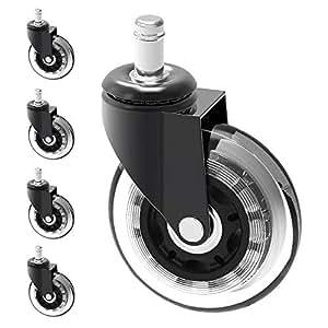Herrman Repuesto de rueda de silla de 10 mm, protección de madera resistente para suelos