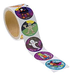 Lot of 100 Assorted Halloween Theme Stickers