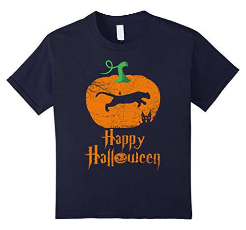 Cougar Costumes Ideas (Kids COUGAR Happy Halloween T-shirt For COUGAR Lovers 12 Navy)