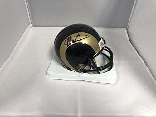 St Louis Rams Memorabilia (Todd Gurley Signed Autographed St Louis Rams Mini Helmet COA & Hologram)