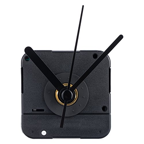 Mudder Clock Movement with Short Hands, 4/25 Inch Maximum Dial Thickness, 3/5 Inch Total Shaft Length