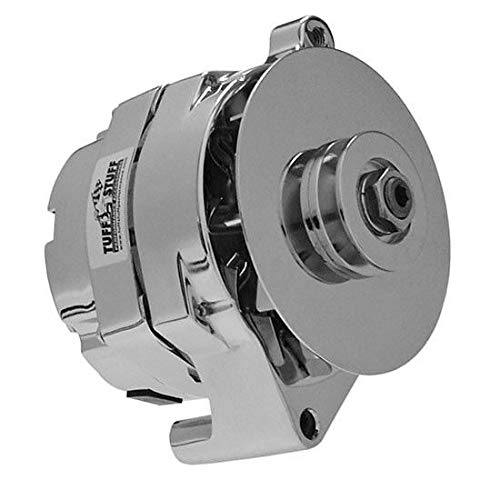 (One Wire Alternator, Chrome, 100 Amp Compatible With Tuff Stuff 7068RD Ford 61-85 GM Conversion)
