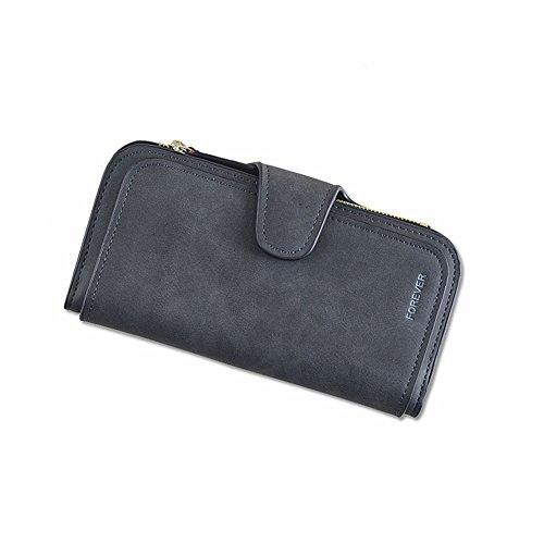 Ladies Black Checkbook Wallet - 7