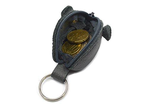 WANDERMAUS BROWNIIE Groschenmaus Portemonnaie aus Leder. Maus Tasche Geldbörse Schlüsselanhänger Maus. Hergestellt in Deutschland Klaus Grau (Graue Leder-wandermaus)