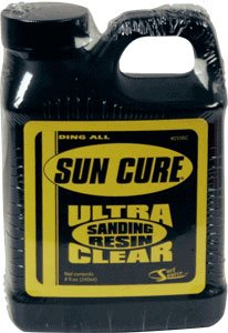 Cure Resin Sun - Sun Cure 1/2 Pint Sanding Resin Surfboard Ding Repair