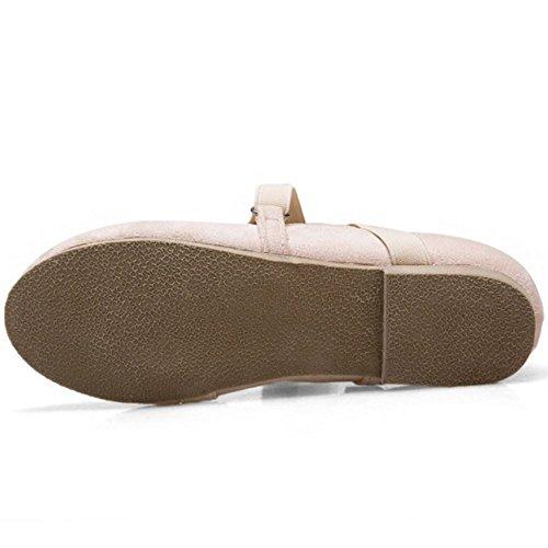 Strap Zanpa Pumps Women 1 Beige Elastic Flat Comfort wn1qRFT