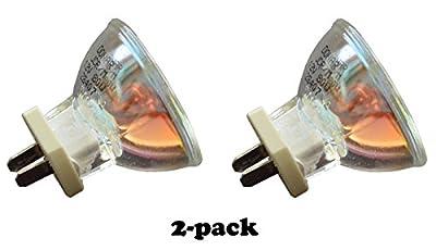 2pcs JCRM 12V 80W RM-82 Donar Bulb for Hybec 23109 - Kerr Optilux Dental Curing 501 - First Medica Hilux 601 - Lares Apollo - Lasac Tech 13865 LTI5000 - Mega Physik Chromalux 100 & Degulux Lamp