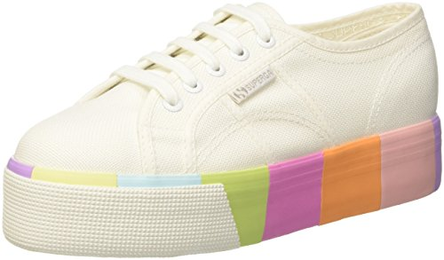 Superga Women's 2790-COTMULTIFOXINGW Trainers, Multicolour (White Multicolor G78), 6.5 UK