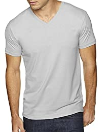 mens Premium Fitted Sueded V-Neck Tee (6440)