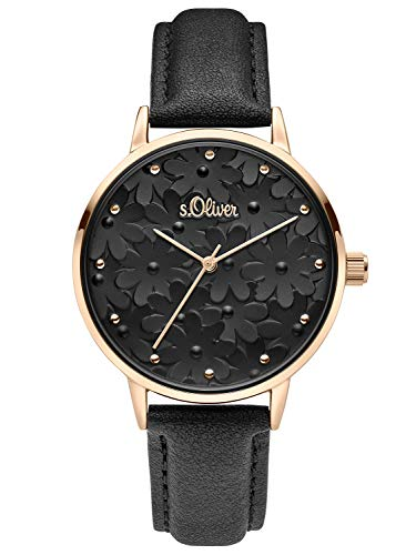 s.Oliver Womens Analogue Quartz Watch with Leather Strap SO-3786-LQ