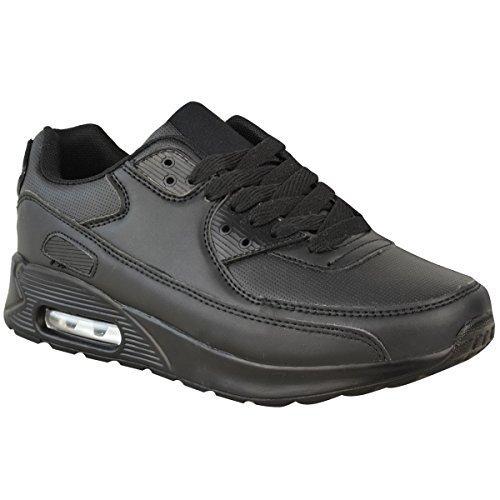 Fitness Aire Deporte Zapatillas Zapatos Sintética Negro Absorción Mujer Running Piel Gimnasio Talla Shock YUqOzq
