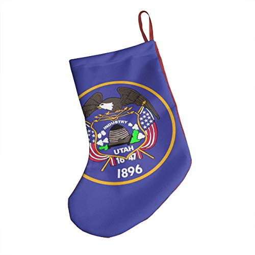 Halloween Parties 2019 Utah (Utah 2019 New Print Traditional Santa Claus Xmas Christmas Stocking with Christmas Ornament for Family)