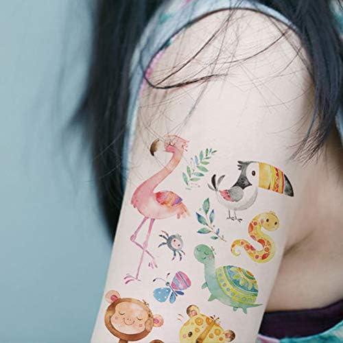 Toyvian Niños Dibujos Animados Animales Tatuajes temporales ...