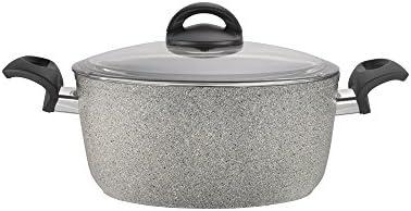 Ballarini 75001-644 Parma Forged Aluminum Nonstick Dutch Oven with Lid, 4.8-quart, Granite