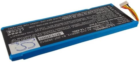 TPMC-8X Replacement Battery for Crestron 6502269 TPMC-8X-BTP 81-215-360012 TPMC-8X WiFi 81-207-392012