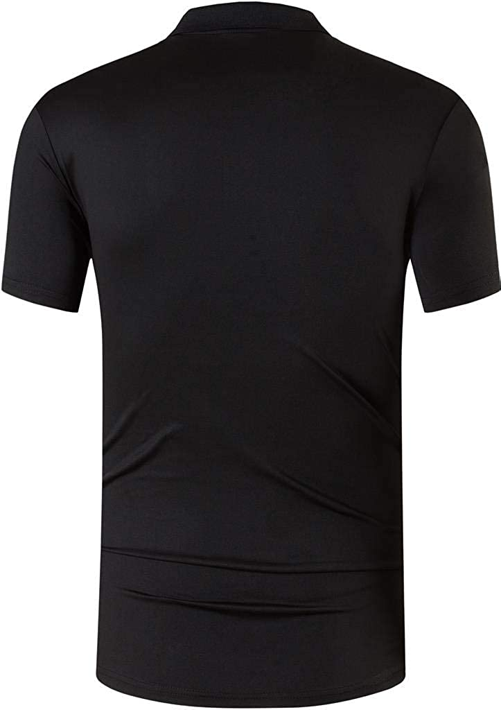 Jeansian Mens 3 Packs Quick Dry Sport Polo T-Shirt LSL195