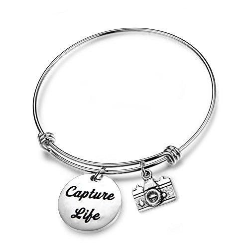 CHOORO Capture Life Bracelet Photographer Gift Camera Charm Bracelet Selfie Lovers Jewelry (Capture Life Bracelet)