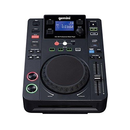 Gemini CDJ Series CDJ-300 Professional Audio CD, CD-R, & MP3 Compatible DJ Media Player with LCD Display and 5-Inch Touch Sensitive Jog Wheel