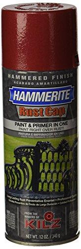 Masterchem Industries 41180 Hammerite Rust Cap Hamme Enamel Finish, 12 Oz Aerosol Can, 18 Sq.-Ft/Gal, Red ()