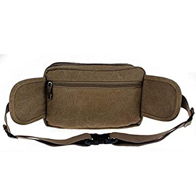 Blue Stones Fashion Casual Canvas Men Waist Packs Messenger Bags Portable Vintage Men Phone Purse Travel Bag Belt Wallets